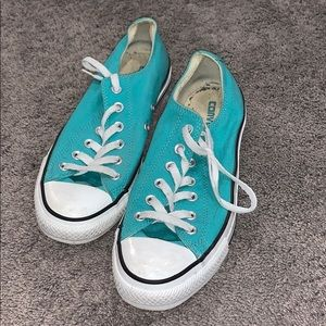 Unisex teal converse ALL STAR chuck Taylors